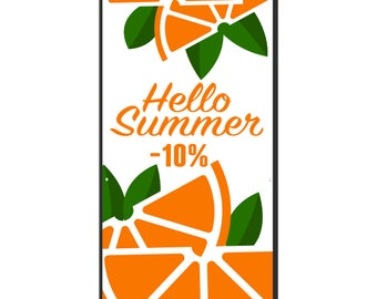 Hello Summer Sale Vinyl Banner