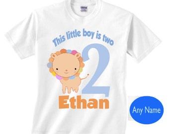 Boy's 2nd birthday lion shirt | Boy's second birthday | This little boy is 2 lion shirt | 2 lion shirt