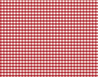 Riley Blake red gingham check fabric, small gingham by Riley blake, red gingham check fabric by the yard for sewing quilting apparel fabric