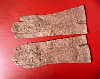 Vintage 50's Peccary leather gloves points