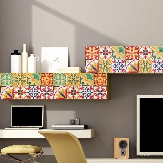 Arte etiquetas azulejo italiano azulejos de pegatinas Pack