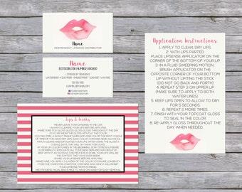 LipSense Business Card - SenegGence Business Card Bundle Watercolor Lip