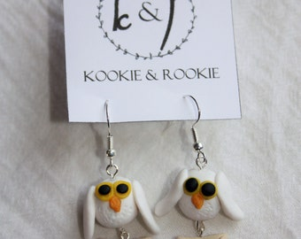 Owl post earrings