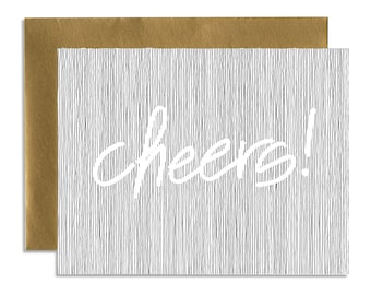 Cheers! - A1 Horizontal Holiday Card Set (Single or Set of 5)