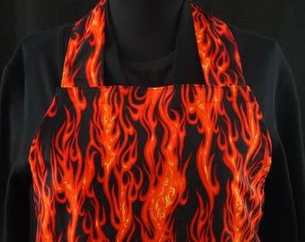Uncle Tim's XL Flames Grilling Apron