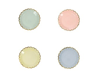 Toot Sweet Pastel Canape Paper Plates by Meri Meri, Party Supplies, Tableware