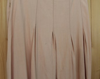 Original 1940s Pink Rayon Crepe Skirt TLC As Is