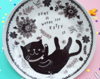 Decorative Cat Plate