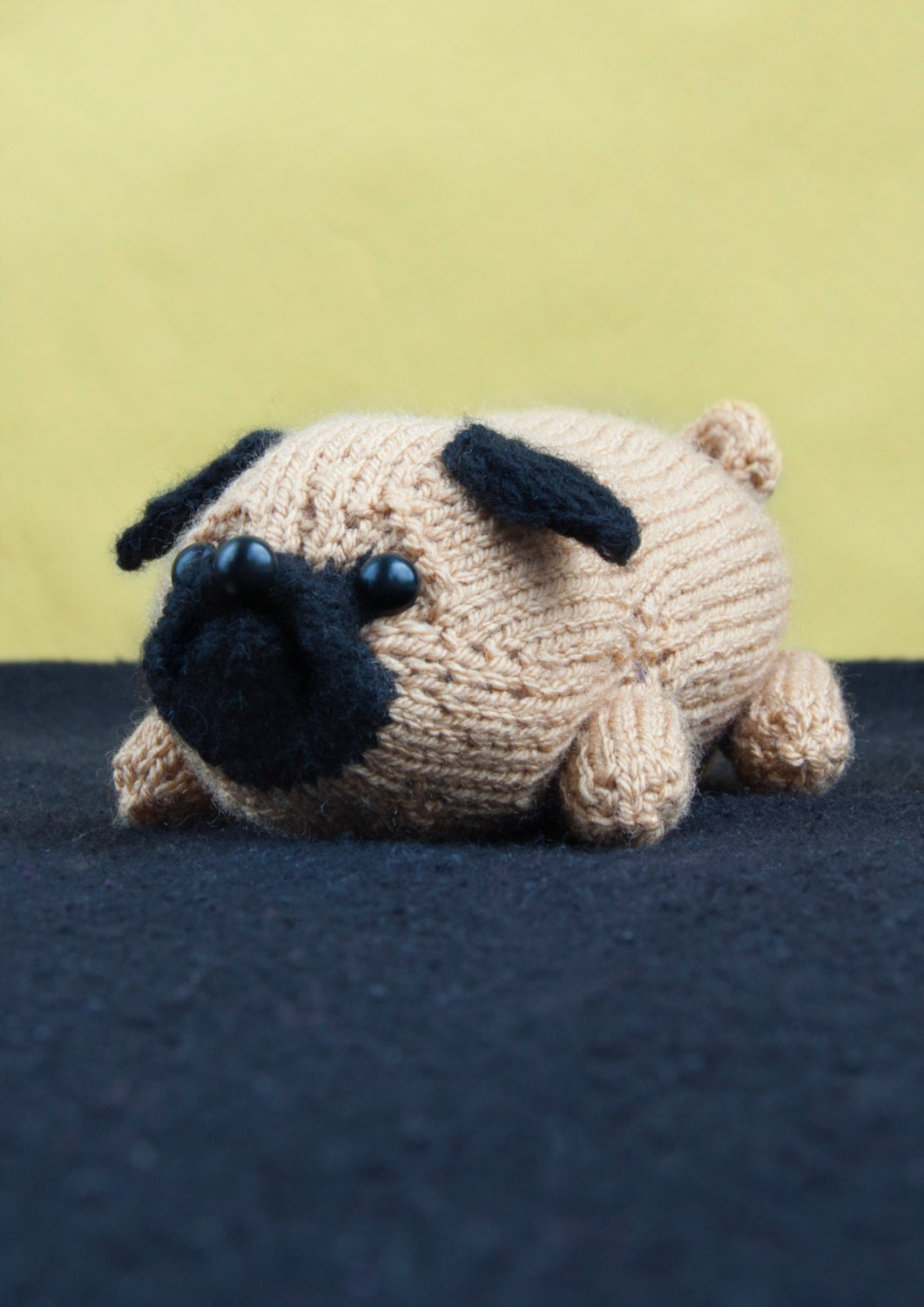 PDF Pattern Jolly The Pug Toy Dog Amigurumi DK Knitting