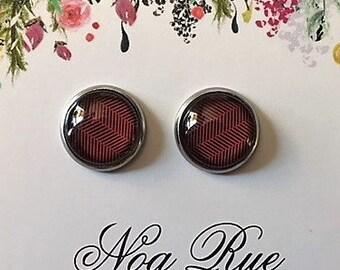 Garnet 10mm Stud Earrings
