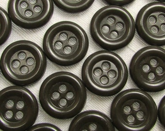"Dark Gray-Green: 1/2"" (13mm) Buttons - Set of 22 New / Unused Matching Buttons"