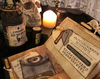 Book of Shadows/Grimoire/Spellbook Printable Junk Journal Kit - INSTANT DOWNLOAD