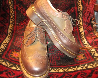 Doc Marten Brown Wing Tips Size 5 Made in England