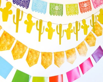 Fiesta Garland Decorations | Tex Mex | Cinco de Mayo - Instant Download and Edit with Adobe Reader
