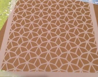 Square 5 inch stencil - geometric pattern