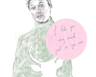 Mark Darcy Bridget Jones I Like You Very Much Instant Download Printable Wall Art