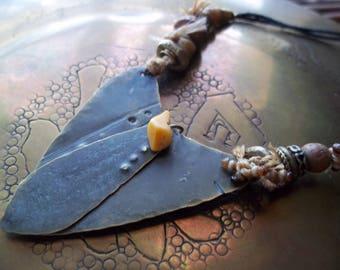 Tribal Necklace-Brass Necklace-Bohemian Necklace-OOAK Necklace-Artisan Necklace-Unique Necklace-Boho Jewelry