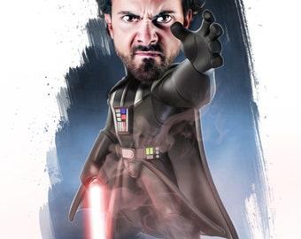 Star Wars Darth Vader Custom Cartoon Portrait