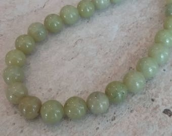 Olive Jade Strand of Beads