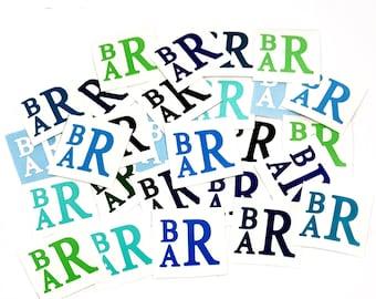 Pacifier Monograms, Pacifier Decals, Baby Monogram