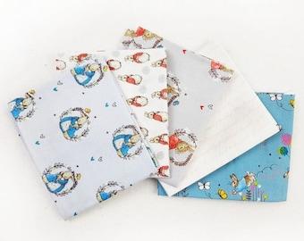 Peter Rabbit fabric collection  - fat quarter bundle 5 x fabrics