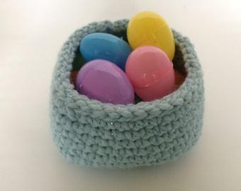 Small Square Base Crochet Basket/Mystical