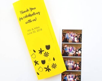 Wedding Flowers Photo Booth Folder - Customized For Your Event - Name And Color