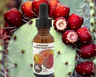 Virgin Prickly Pear Seed Oil Organic (cold pressed, unrefined) - secret of super hydrated skin, brightening, wrinkle-reducing, glowing skin.