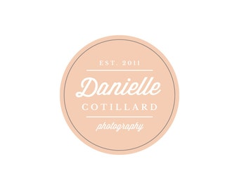 Beautiful Round Premade Logo - DIY Logo PSD & EPS Template - Instant Download