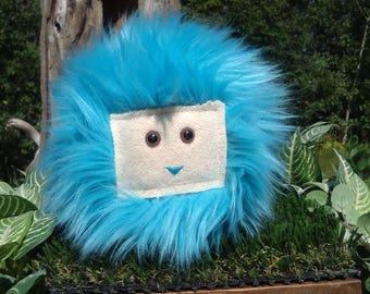 Handmade Fun Fur Lovable Monster Creature Huggable Round Ball