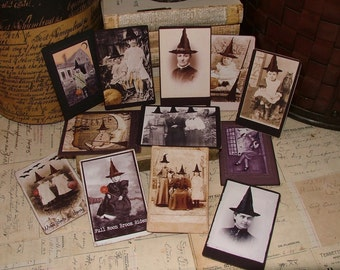 third set of witches cabinet trading cards
