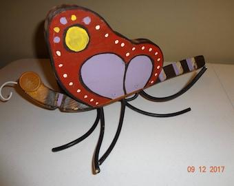 Handmade Painted Wood Butterfly Outdoor Garden Porch Decor