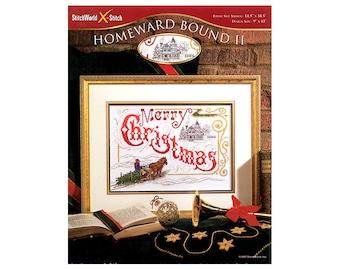 Homeward Bound Christmas Cross Stitch Leaflet, Christmas Picture, Christmas Decorations, Stitch World, Christmas Patterns, NewYorkTreasures