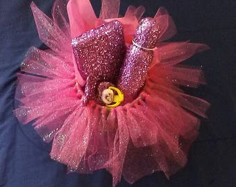 Hand Made Blinged Out Tutu Baby Basket