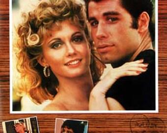 Grease movie poster John Travolta Olivia Newton John  23 x 35