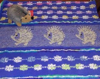 Swedish Weaved Afghan - Dazzling Blue
