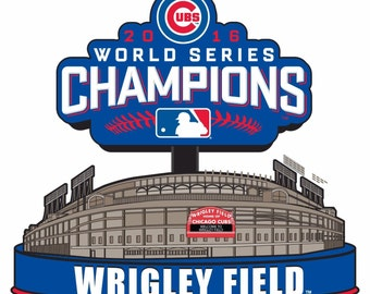 Chicago Cubs Wrigley Field 2016 World Series Champions 4x4 Magnet