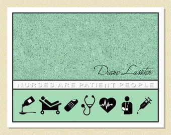 Nurses Are Patient People - Personalized Note Cards (10 Folded)