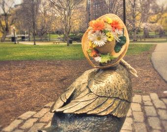 Make Way For Ducklings Art  - Boston Ducklings - Boston Public Garden Spring Art in Print or Canvas - FREE SHIPPING