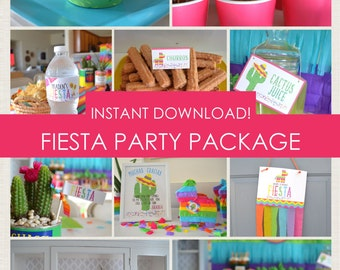 Fiesta Party Package // Cinco de Mayo // Instant Download // Printable PDF