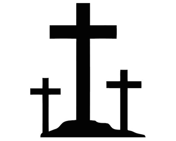 Three Crosses Decal 3 Crucifix Crosses Sticker Christian 3