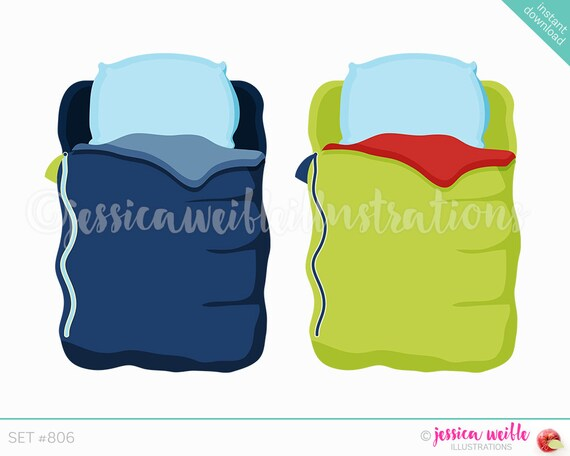 instant download boys sleeping bag cute digital clipart cute rh etsy com sleeping bag clipart sleeping bag clipart black and white