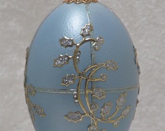 Blue goose egg ornament