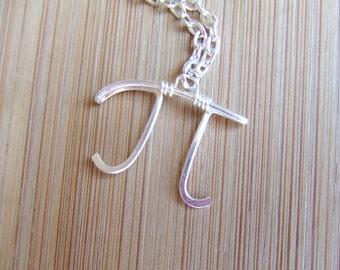 Pi Necklace, Symbol Necklace Geek Nerd Math Symbol Necklace 3.14159 Greek Letter Fraternity Symbol Geek Gifts Under 20