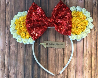 Belle Mouse Ears, Mickey Ears, Minnie Mouse Ears,  Mouse Ears, Princess Mouse Ears, Disney Ears, Disney Vacation, Epcot Ears