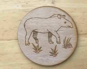 wooden animal tapir coaster
