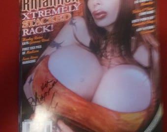 Gent Magazine signed Autograph by Mistress Rhiannon