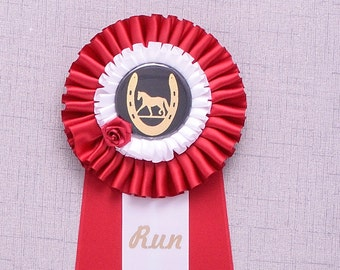 Kentucky Derby Rosette Award, Derby Party Decoration, Derby Shower Decor, Horse Show Award, Custom Rosette Award, Custom Prize Ribbon