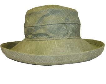 The Noosa Hat | Khaki | Linen | Narrow Brim