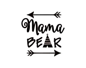 Mama Bear Vinyl Decal, Mama Bear Sticker